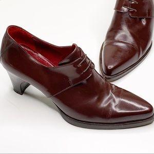 MaxMara Pointed Toe Slip On Heeled Loafer